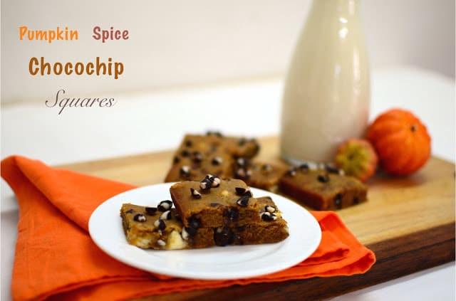 Pumpkin spice Chocochip squares