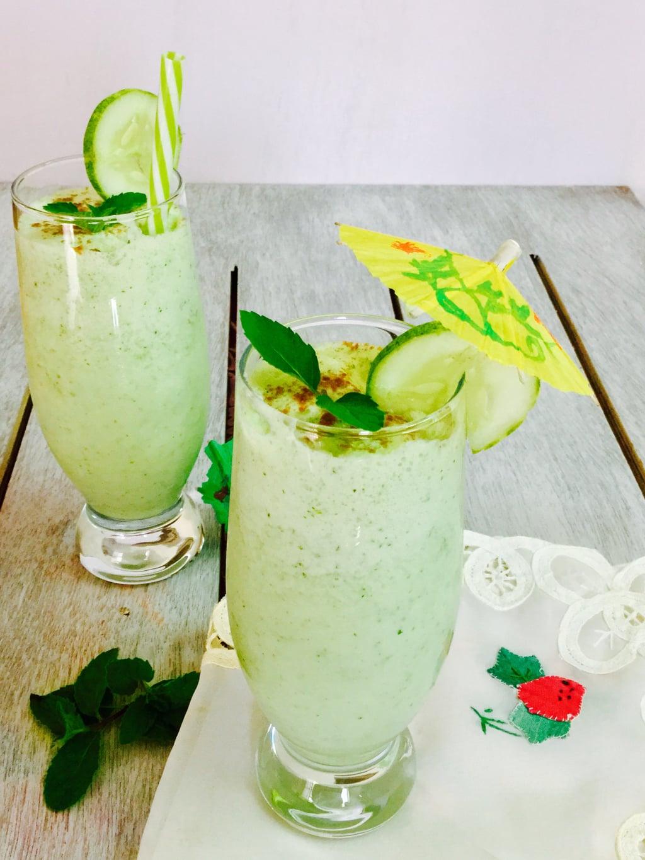 Kheera Pudina Lassi/Cucumber and Mint Lassi