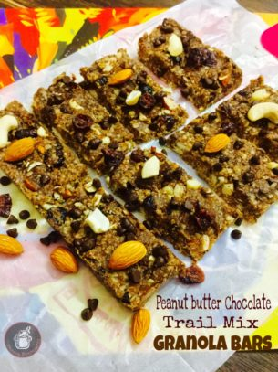 Peanut Butter Chocolate trail Mix Granola Bars…Back to School Collab