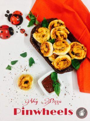 Veg Pizza Pinwheels