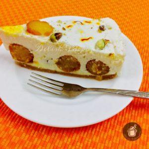 No Bake Gulab Jamun Cheesecakemy 100th Post
