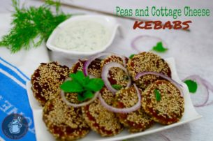 Peas and Cottage Cheese kebabs/Matar Paneer Kebabs(Monsoon Mania Collab)