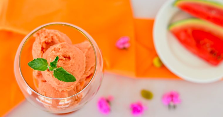 Watermelon Coconut Lime Sorbet