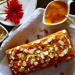 Eggless Mango Cake with Almonds and Saffron