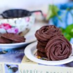 Eggless Ragi / Finger Millet Chocolate Rosette Cookies