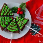 Christmas Tree Gingerbread Brownies