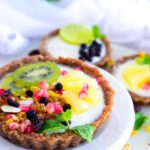 Lemon Greek Yoghurt and Fruit Tart