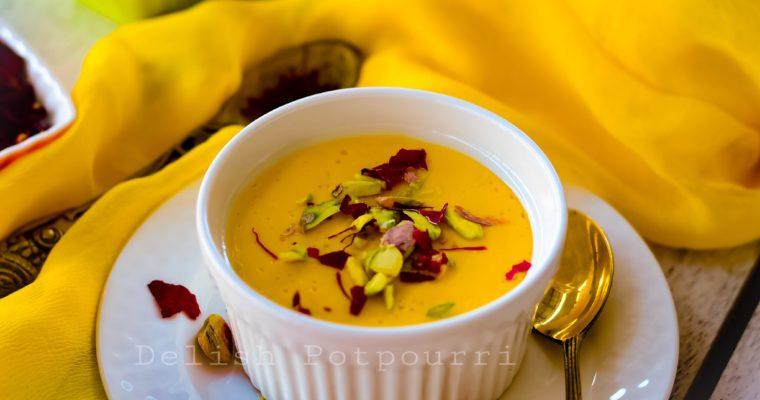 Steamed Mango & Saffron Yoghurt/ Bhapa Aam Doi